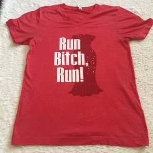 Red graphics t shirt